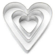 Heart Fondant / Cookie Cutter Set Valentines day biscuits gift idea crafts