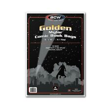 Golden Comic Mylar Storage Bags 2 Mil x 50 per pack