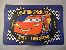 Set of 4 Disney Cars Lightning Mc Queen Vinyl Children's Place Mat