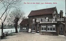 Hoddesdon. The Fish & Eels Hotel, near Hoddesdon # 1971 by Charles Martin.