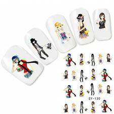 Tattoo Nail Art Anime Glitzer Manga Japan Aufkleber Nagel Sticker Neu!