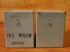 WESTERN ELECTRIC 607 A  INPUT TRANSFORMER PAIR (2) TUBE PREAMP, ENGRAVED, 1946