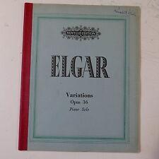 piano solo ELGAR op.36 enigma variations , novello