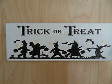 Shabby Halloween Trick Or Treat Placa, Chic Y Único
