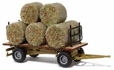 OO/HO Vehicles - Hay bails on farm trailer - Busch 44930 - free post