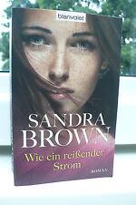 BUCH WIE EIN REISSENDER STROM SANDRA BROWN FRAUEN ROMAN LITERATUR SPANNUNG TB !!