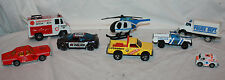 Lot of 8 Plastic & Metal Matchbox Emergency & Police Vehicles Model Toy Cars