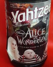 Yahtzee Alice In Wonderland Collectors Edition Hasbro Disney 2010 Tim Burton EUC