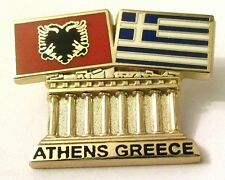 Pin Spilla Olimpiadi Athens 2004 Greece/Albania Flags