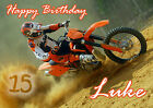 PERSONALISED MOTOCROSS MOTORBIKE BIRTHDAY CARD