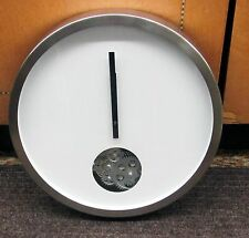 """METAL 14"""" DIAMETER WHITE CONTEMPORARY WALL SMALL CIRCLE OF MOVING GEARS 42827"""