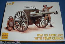 HAT 8158 WW1 US ARTILLERY with 75mm CANNON  - 1/72 SCALE PLASTIC