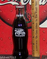1995 DETROIT RED WINGS 70TH ANNIVERSARY 1926 1996 8OUNCE GLASS COCA COLA BOTTLE
