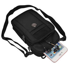Black Casual Crossbody Sport Shoulder Bag for iPhone 7 7 Plus 6S Plus / LG V20