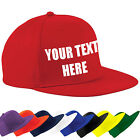 CUSTOM PRINTED PERSONALISED RAPPER BASEBALL CAP- 6 CAP COLOURS, ANY TEXT, LOGO