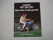 advertising Pubblicità 1981 MOTO CAGIVA SST 250/350