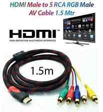 1.5m 1080p HDMI macho a 5 RCA RGB Audio Video Cable Compuesto AV Componente HDTV