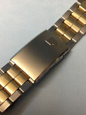 20mm VINTAGE  PULSAR  STAINLESS STEEL GOLD SILVER 2-TONE BRACELET WATCH BAND new