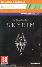 The Elder Scrolls V 5 Skyrim Full Game Download Code Xbox 360 - REGION FREE