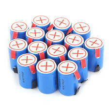 15 x Ni-Mh 4/5 SubC Sub C 1.2V 2800mAh Rechargeable Battery with Tab Blue KN
