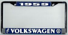 1959 Volkswagen VW Bubblehead Vintage California License Plate Frame BUG BUS T-3