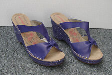 NEW Hush Puppies Purple Wedge Heel Mules Size 6/39, Boxed