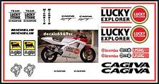 Cagiva mito 125 LUCKY STRIKE motorbike graphics stickers KIT VERY RARE !!!!