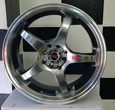 """19"""" 10 H0LE 5/100-5/114.3 RSGT ALLOY MAG WHEELS FOR 5 STUD JAPANESE CARS"""