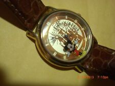 """MICKEY MOUSE,Watch Disney Works,""""Disney World Dial"""",Japan Movt, Unique,RARE"""