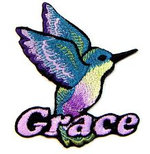 Iron-on Hummingbird Patch With Name Personalized Free