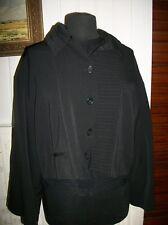 Veste courte legere polyester noir  stretch LAUREN VIDAL M 38/40 Boutonné manche
