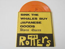"""ROTTERS Sink The Whales 7"""" RARE SoCAL KBD PUNK YELLOW VINYL UNPLAYED"""
