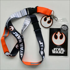 Star Wars Rebel Pilot Alliance Lanyard Necklace ID Holder Keychain with Sticker