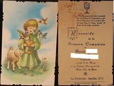 ESTAMPA PRIMERA COMUNION NUESTRA SEÑORA DE GUIA . SEVILLA 1971 HOLY CARD .CC446