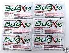 Bug X 30 Insect Repellent Towelette Protect Yourself First Aid Kit Refill