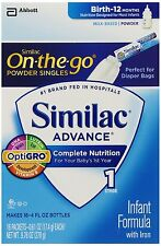 Similac Advance Formula Stage 1 On the Go Powder Sticks, 64 COUNT - 4 PACK