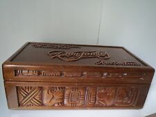 Vintage Don Tomas Cuban Hand Carved Wooden DISPLAY Large Humidor CIGAR Box RARE!