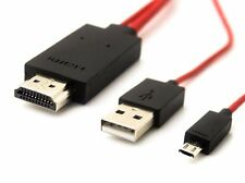 MICRO USB MHL TO HDMI CABLE ADAPTER HDTV SAMSUNG GALAXY S4 NOTE 2 MEGA 2M-6ft