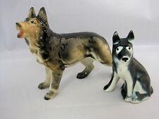 German Shepard Dog or Wolf? Vintage Figurines Lot of 2