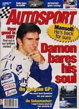 Autosport 25 Aug 1994 -  Damon Hill,  Jos Verstappen, Mansell, Belgian GP,