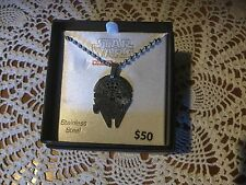 STAR WARS JEWELRY  Boys' Disney Storm Trooper Cut Out Stainless Steel Pendant
