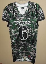 NIKE AUTHENTIC PORTLAND STATE VIKINGS #6 FOOTBALL GAME TEAM ISSUED JERSEY CAMO