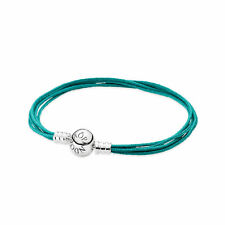 Auth Pandora Moments Teal Multi-Strand Bracelet 590715TU-M1 SMALL Retired