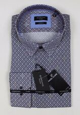 Giordano - Navy Square Print Modern Fit Shirt - Size XXL *NEW WITH TAGS* RRP £80