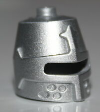 LeGo Castle Metallic Silver Minifig Headgear Helmet Castle Closed with Eye Slit