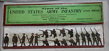 Vintage Britains Set No. 1251 USA United States Army Infantry in Box + Extras