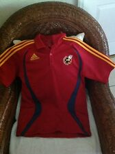 vintage 2006 adidas climalite spain soccer polo shirt size S mens