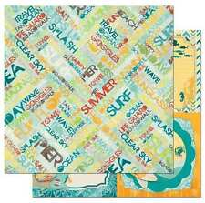NEW BO BUNNY KEY LIME SUMMER DAZE 2CT 12X12 DOUBLE SIDED PAPER