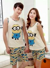 Despicable Me Minions Pajamas Set 2 Piece Tank Top Shorts NWT S M L XL or XXL*