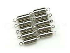 20 Magnetic Clasp Converters - Tube Style - Silver Color - Jewelry Necklace Set